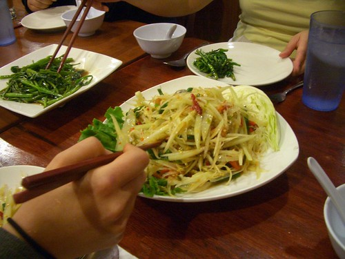 Ruen Pair papaya salad with raw crab