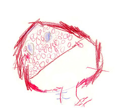la varicelle / chicken pox (dear_new_girl) Tags: art kid dessin draw crayon chickenpox enfant varicelle childrendrawing