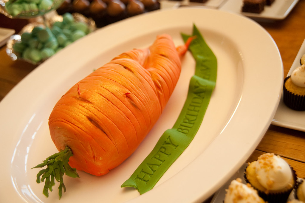 Carrot-shaped cake from beccadilley on Flickr - by Sweets Bake Shop