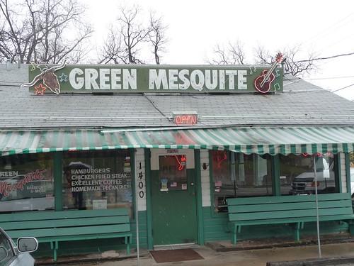 green mesquite.