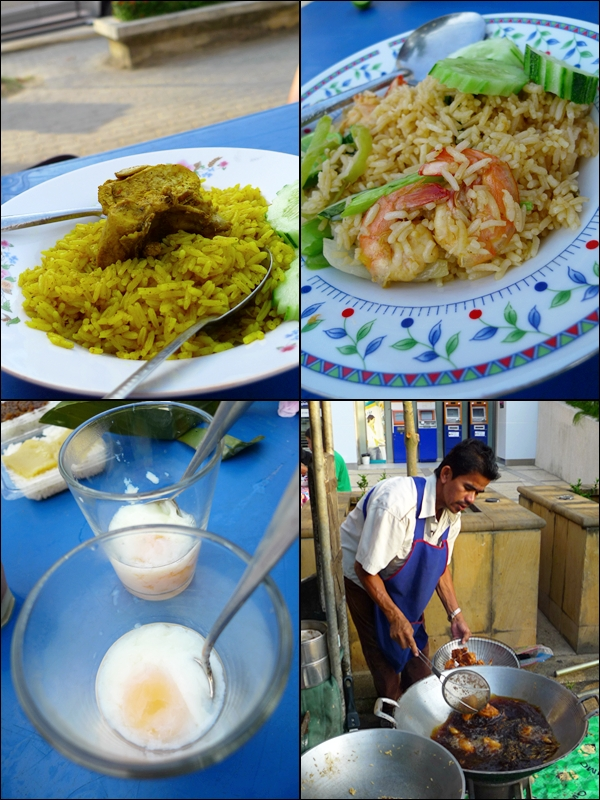 Fried Rice, Khao Mok Gai, Soft-Boiled Eggs @ Koh Det's