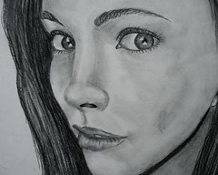 (Nattradd) Tags: portrait art up self close drawing class charcoal natalie radbill