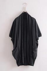 (( PINK-YA )) * C61015811 * 快速到貨˙雙口袋大寬袖感長版罩杉外套˙深灰色 230