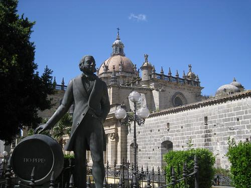 Statute of founder, Gonzale Byass