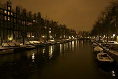 Canals in Winter (peeon) Tags: winter holland amsterdam night canal adventure bronwyn adriaan winterinamsterdam brondriaan