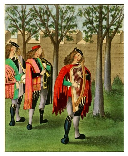 010-Juglares 1480-Dresses and decorations of the Middle Ages 1843- Henry Shaw