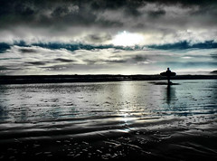 Blue surf (Anthony Goodall) Tags: sea reflection beach clouds contrast waves ripple surfboard scarborough neyorkshire