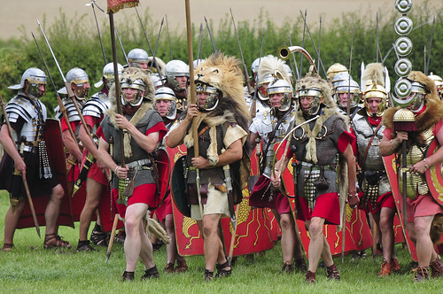 Roman Army Soldiers Marching