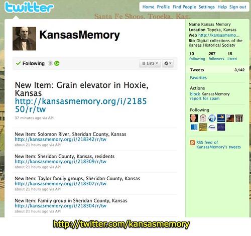 Kansas Memory (KansasMemory) on Twitter