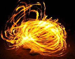 Fire Spinning (J-Fish) Tags: camp night fire performance spinning firespinning poi slowshutter firepoi d300s 1685mmf3556gvr 1685mmvr