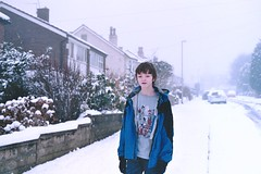 (emilyharriet) Tags: street winter white snow film december oliver pavement brother leeds olympus ollie fav