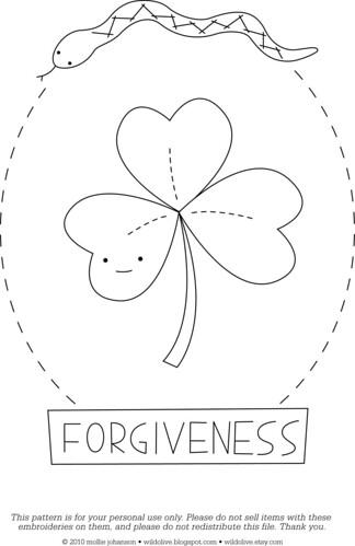 Forgiveness - a free pattern