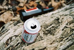 all i wanna do is use you, (Julia Richmond) Tags: wood party film beer bottle log nikon can gross budweiser n2000