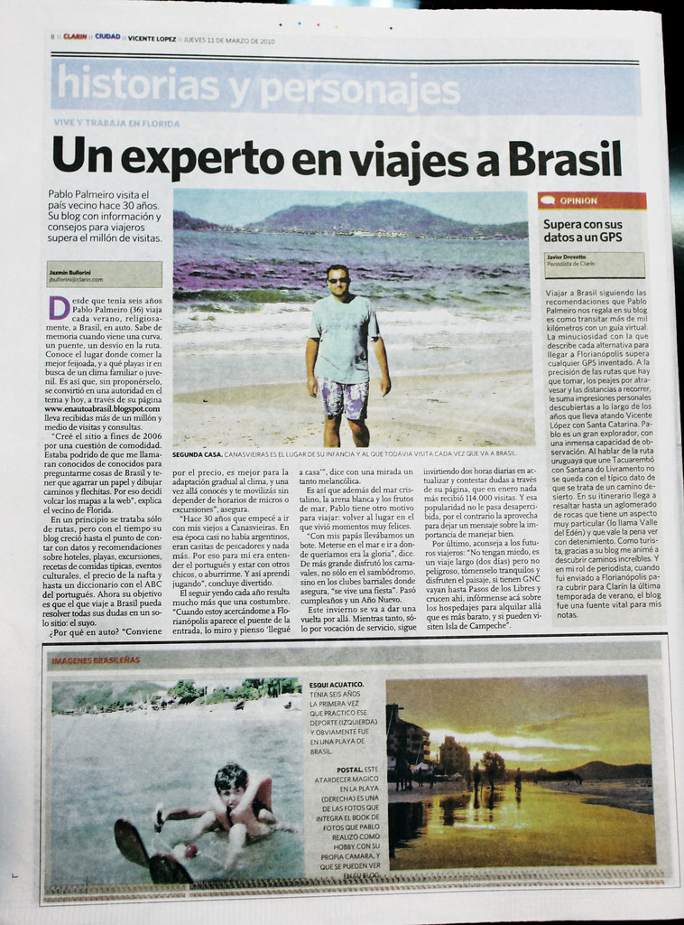 """Un experto en viajes a Brasil"""