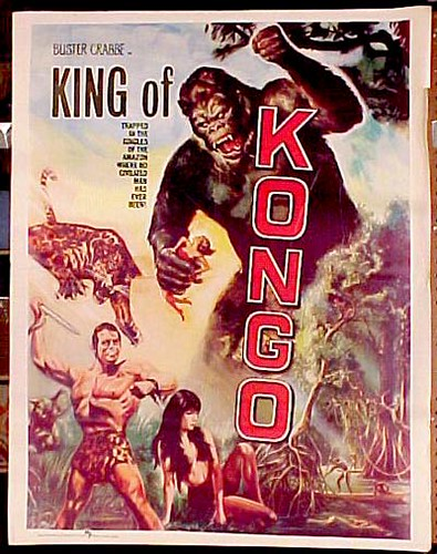 KING OF THE KONGO (1952) Pakistani one sheet