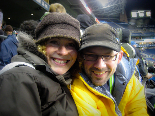 At the sounders game