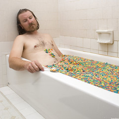 Fruit Loops (lauralani) Tags: art square bathroom colorful cereal odd tub staged strobist lauradeangelis lauralani