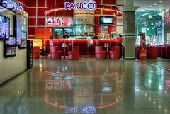 Reflejos de Tiempos de Ocio / Leisure Time Reflections (Far & Away (On assigment, mostly off)) Tags: light reflection bar mall neon vodka leisure kazakhstan almaty kazajstan kazajstn