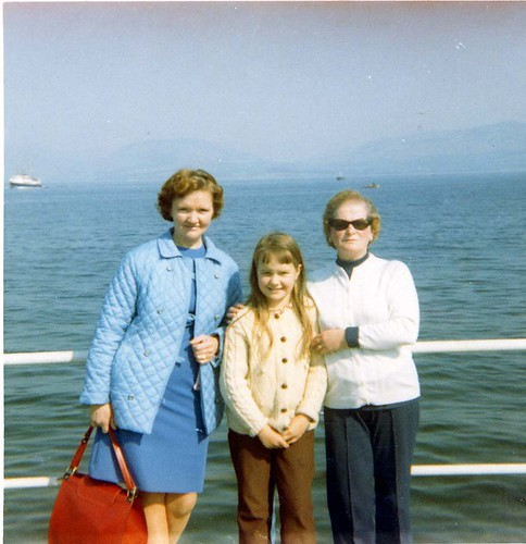 Ruby and Christine Burns Jean Wilson Rothesay 1970