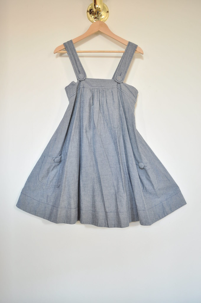 H&M chambray swing dress