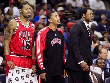 All D-Rose could do was watch as the Bulls lost their eighth straight.