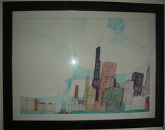 Wesley Willis Ebay Auction march 2010: 2002 Lakeshore Skyline for $510 (danxoneil) Tags: chicago art lakeshore wesley willis wesleywillis