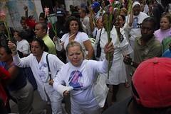 Las Damas de Blanco gritan consignas
