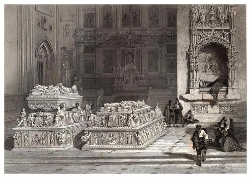 030-Tumba de los reyes Fernando e Isabel-Voyage pittoresque en Espagne et en Portugal 1852- Emile Bégin