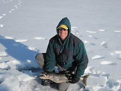 Bob With a Nice 30+ Inch Lake Trout (fethers1) Tags: icefishing laketrout grossreservoir