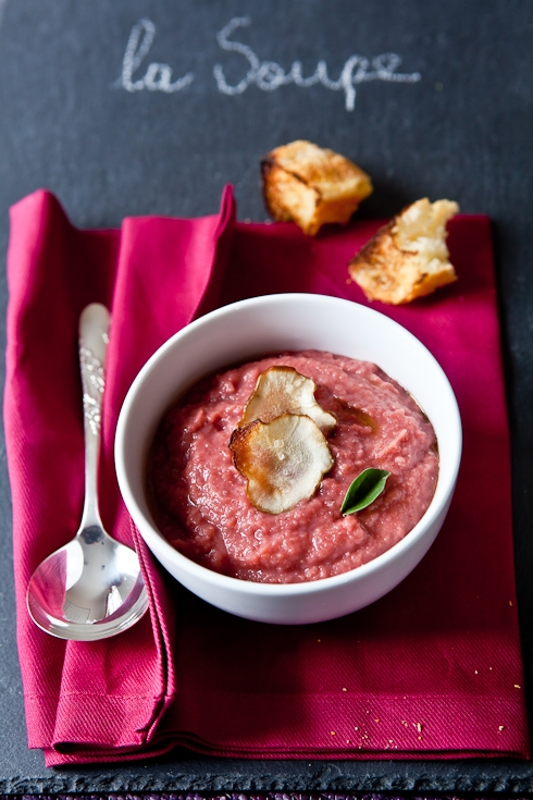 "Roasted Root Vegetable ""Pink"" Soup"