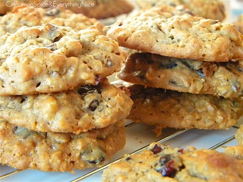Peanut Butter Oatmeal Cookies w/ Cranberries & Walnuts