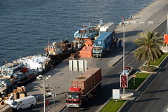 TRUCKING IN DUBAI (Claude  BARUTEL) Tags: port dubai harbour united transport emirates arab sharjah trucking