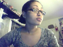 glasses Light skin girl with