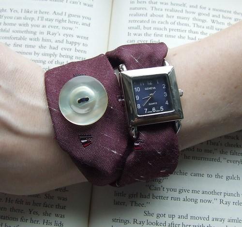 sold - Necktie Watch Watch Wrap in aubergine