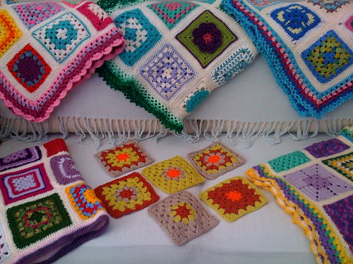 6 Squares from Pattygloria in Canada. Beautiful Squares for the 'SIBOL' project. Thank you very much!