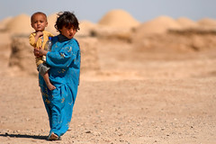 Young Afghan Girl and Her Brother