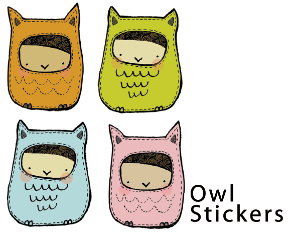 Owl Illustrated Stickers