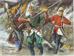 Ottoman Warriors (cool-art) Tags: infantry army military muslim rules empire soldiers warriors wars ottoman islamic gunpowder osmanl yenieri janissary savalar