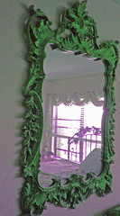 My Mirror of Enchantment (Enchanticals ~I'm Coming Back) Tags: green glass colors altered mirror purple antique illusion lookingglass ornate dimension magical enchanted refinished scrolls colorchange alteredreality whatsonyourwall enchanticals enchanticalsetsy