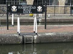 Hampstead Road Lock, Camden Town (Normann) Tags: london sign canal lock camden regentscanal grandunioncanal hampsteadroadlock