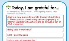 Mahalo Journal - autogrowing input boxes