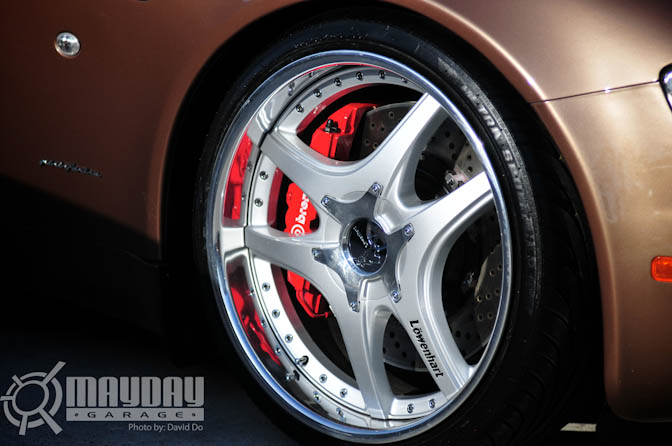 Even the Brembo brakes on this Maseratti were beautiful to look at.