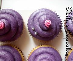 Romantic Cupcakes (Mily'sCupcakes) Tags: pink rose cupcakes violet rosa romantic rosas violeta vainilla milys