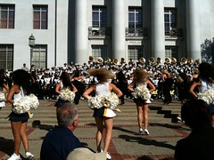 Cal Football Rally #4 (edwardmarcel) Tags: california golden berkeley fight cheerleaders song bears band cal usc uc 3gs iphone