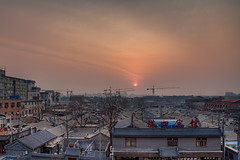 Good Morning Beijing (Sam Ili) Tags: china old city sky sun sunrise beijing  photomatix  5dmarkii canon24105mm4