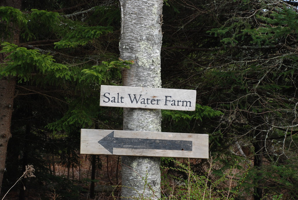 salt water farm sign