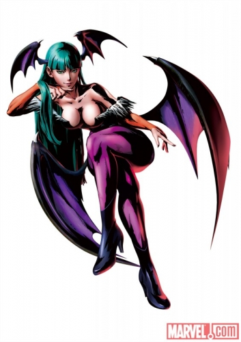 Marvel vs Capcom 3 Fate of Two Worlds Morrigan Promo Art