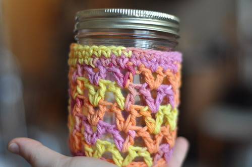 jar cozy in hand