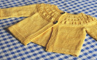 TINY Tea Leaves Cardi pattern by Melissa LaBarre
